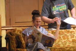 Carlee Smith as Erma rehearses Thursday for the Nash's-Plainfield High School spring play. — Reports photo by Chris Baldus