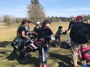 Golfers get their instructions prior to competition Monday at Cedar Ridge Golf Course. Photo courtesy of N-P