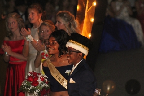 Charles City High School Prom Queen Cinnamon Evans and King Bryant Mitchell II